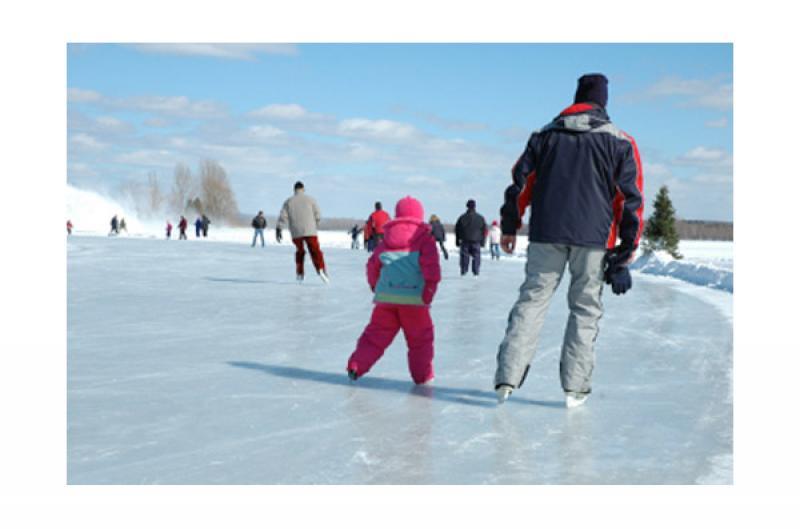 Sentier glac et patinoires ext rieures cantons de l 39 est for Patinoir exterieur