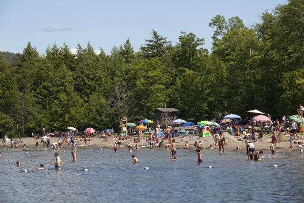 Plage Lac Stukely - Parc national du Mont-Orford