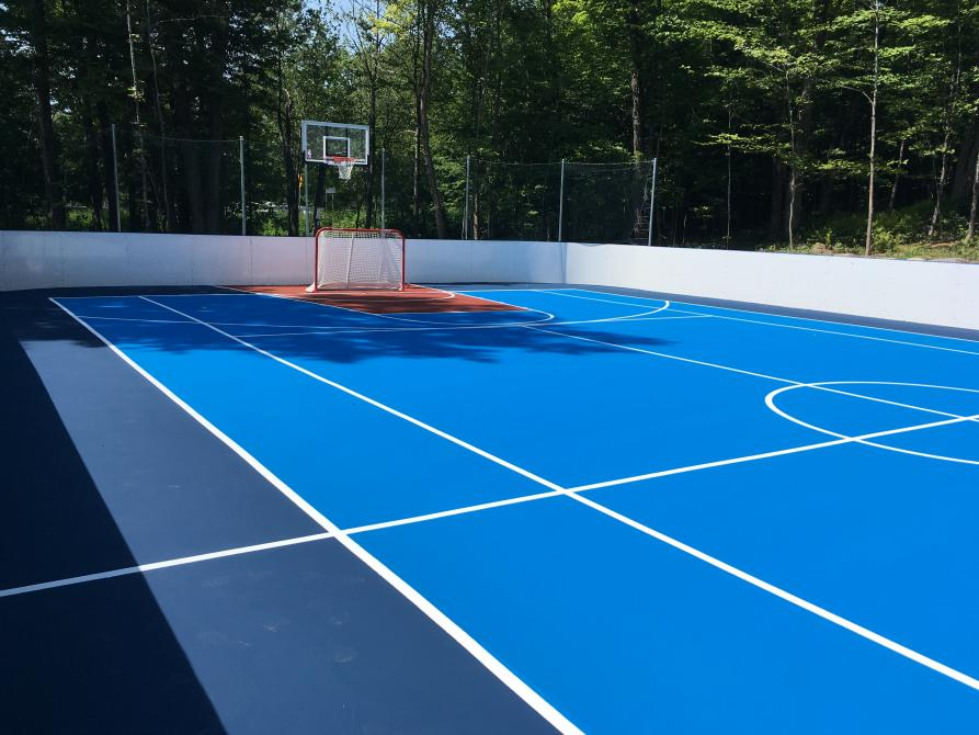 Camping Estrie Lac Plage dek hockey basketball: