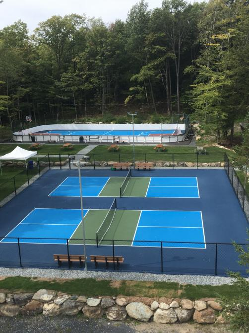 Camping Estrie Lac Plage pickleball: