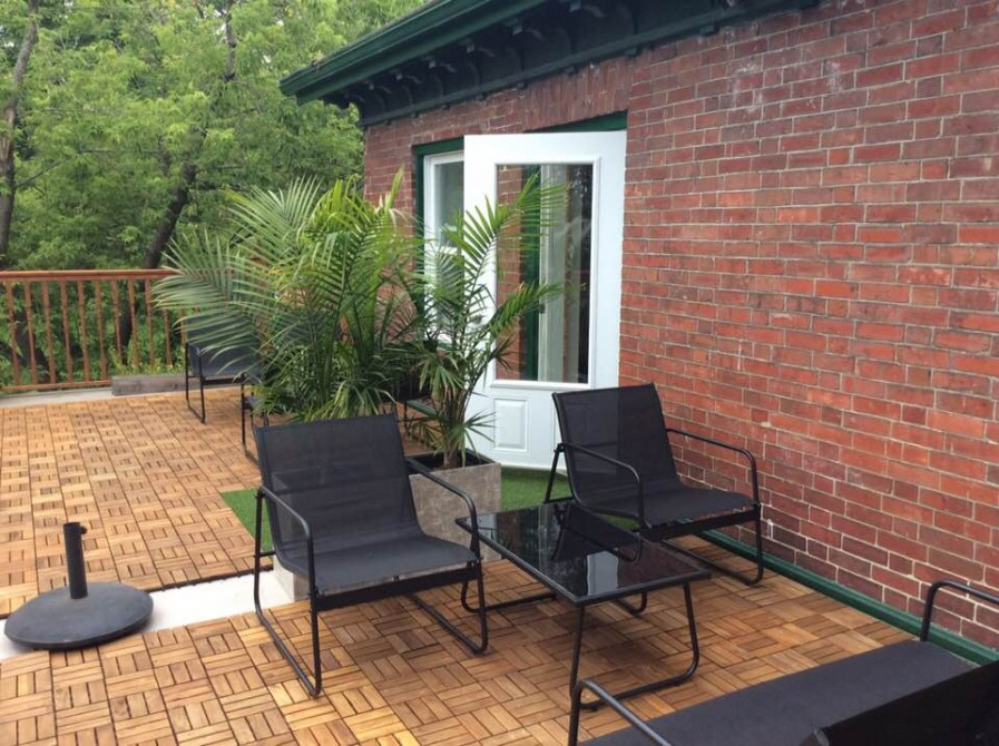 Ile de Garde B&B: terrasse privative